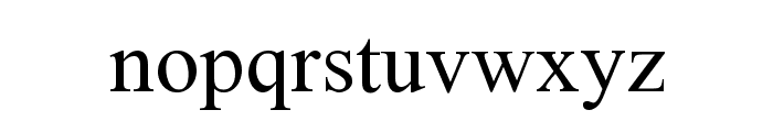 Zarnegaar Font LOWERCASE