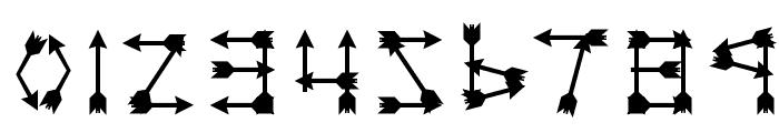 Zarrow Regular Font OTHER CHARS