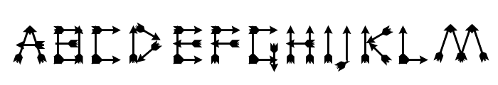 Zarrow Regular Font LOWERCASE