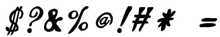 zai Calligraphy Script Handwritten Font OTHER CHARS