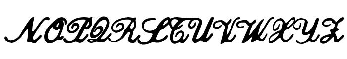 zai Calligraphy Script Handwritten Font UPPERCASE