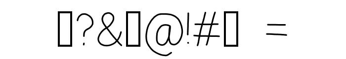 zama Thin Font OTHER CHARS