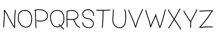 zama Thin Font UPPERCASE
