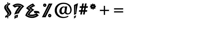 ZAMBESI Regular Font OTHER CHARS