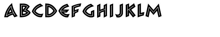 ZAMBESI Regular Font UPPERCASE