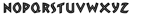 ZAMBESI Regular Font LOWERCASE