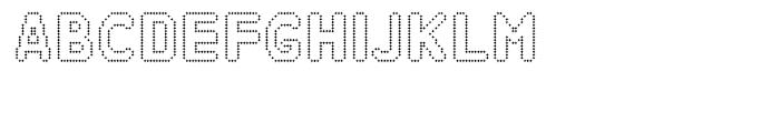 Zampichi Outline Font UPPERCASE