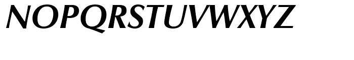 Zapf Humanist 601 Bold Italic Font UPPERCASE