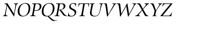 Zapf Renaissance Antiqua Book Italic Font UPPERCASE
