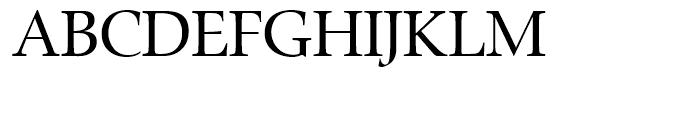 Zapf Renaissance Antiqua Book Font UPPERCASE