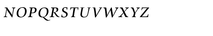 Zapf Renaissance Antiqua Caps Book Italic Font LOWERCASE
