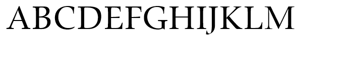 Zapf Renaissance Antiqua Caps Book Font UPPERCASE