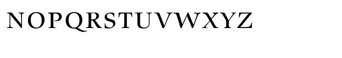 Zapf Renaissance Antiqua Caps Book Font LOWERCASE