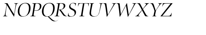 Zapf Renaissance Antiqua Light Italic Font UPPERCASE