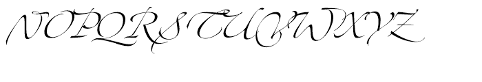Zapfino Extra Two Font UPPERCASE