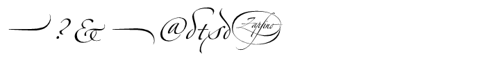 Zapfino Four Font OTHER CHARS