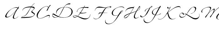 Zapfino Four Font UPPERCASE