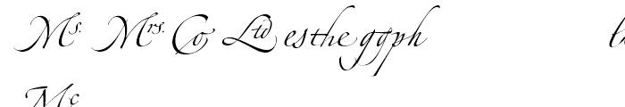 Zapfino Ligatures Font UPPERCASE