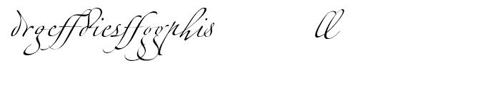 Zapfino Ligatures Font LOWERCASE