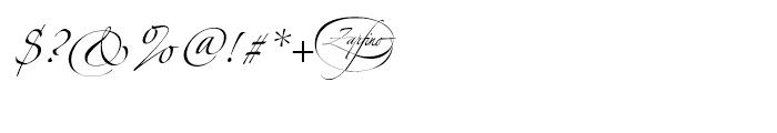 Zapfino One Font OTHER CHARS