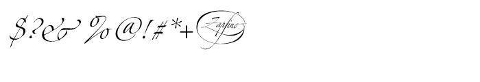 Zapfino Three Font OTHER CHARS