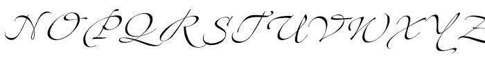 Zapfino Three Font UPPERCASE