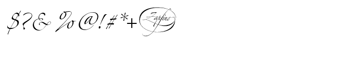 Zapfino Two Font OTHER CHARS