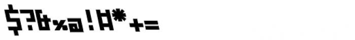 ZAP Black 360 Backslant Font OTHER CHARS