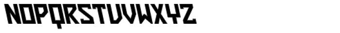 ZAP Black 360 Backslant Font UPPERCASE