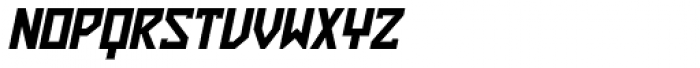 ZAP Black 360 Slant Font UPPERCASE