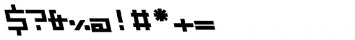 ZAP Black 500 Backslant Font OTHER CHARS
