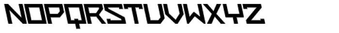 ZAP Black 500 Backslant Font UPPERCASE