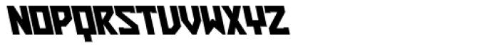 ZAP Heavy 360 Backslant Font UPPERCASE