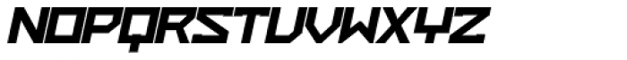ZAP Heavy 500 Slant Font UPPERCASE