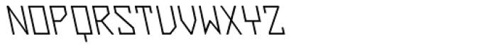 ZAP Light 360 Backslant Font UPPERCASE