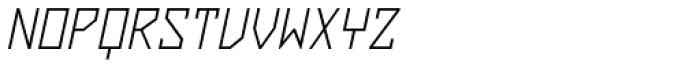 ZAP Light 360 Slant Font UPPERCASE