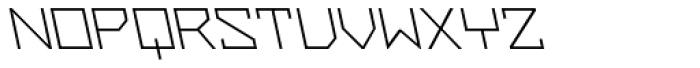 ZAP Light 500 Backslant Font UPPERCASE