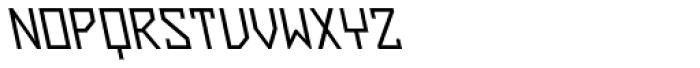 ZAP Regular 360 Backslant Font UPPERCASE