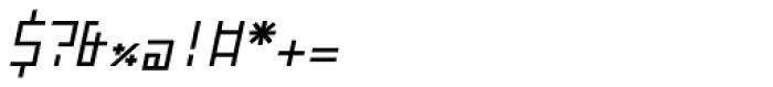 ZAP Regular 360 Slant Font OTHER CHARS
