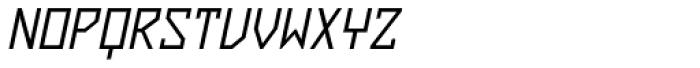 ZAP Regular 360 Slant Font UPPERCASE