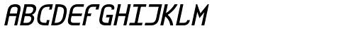 ZAP Round Semi Bold 360 Slant Font UPPERCASE