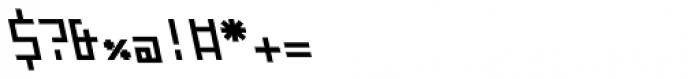 ZAP Semi Bold 360 Backslant Font OTHER CHARS