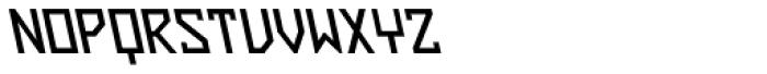 ZAP Semi Bold 360 Backslant Font UPPERCASE