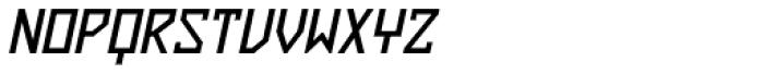 ZAP Semi Bold 360 Slant Font UPPERCASE