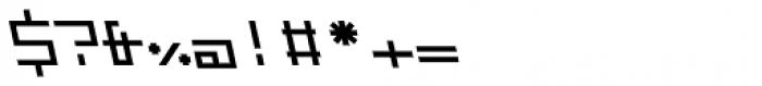 ZAP Semi Bold 500 Backslant Font OTHER CHARS