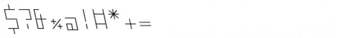 ZAP Thin 360 Backslant Font OTHER CHARS