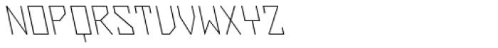 ZAP Thin 360 Backslant Font UPPERCASE