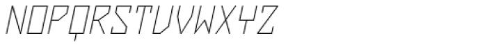 ZAP Thin 360 Slant Font UPPERCASE