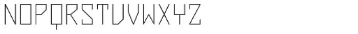 ZAP Thin 360 Font UPPERCASE