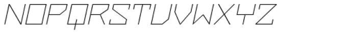 ZAP Thin 500 Slant Font UPPERCASE